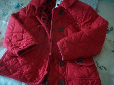 Next Red Quilted Coat Jacket Age 5-6