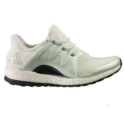 Adidas BB1732 Pure Boost X Pose Running Shoes womens Green sneakers White SZ 5.5