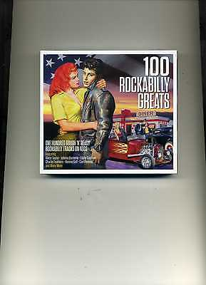 100 Rockabilly Greats - 50S Johnny Burnette Elvis Eddie Cochran - 4 Cds - New!!