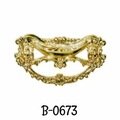 Victorian Style Cast Brass Drawer Pull Antique Style Solid Brass Vintage Old