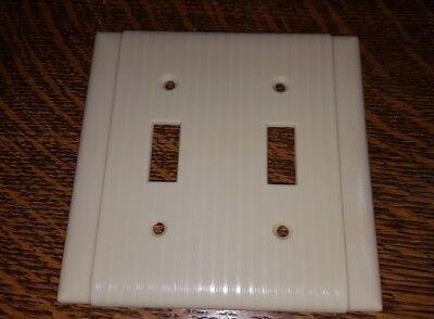 Vintage MCM UNILINE BAKELITE 2 Toggle Double Wall Light Switch Plate Cover