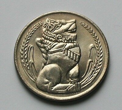 Singapore 1969 $1 DOLLAR Coin AU+ with Toned-Lustre