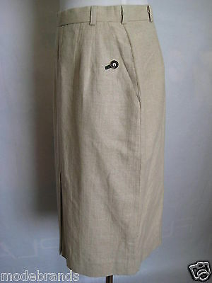 Original Alps Traditional Costume C&a Skirt 38 Natural Canvas Viscose/Tr