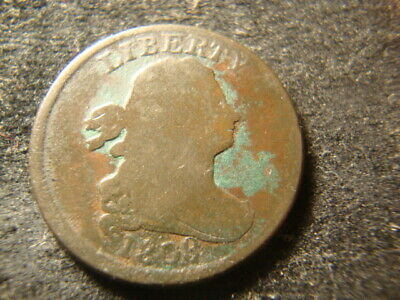 1808 Full Date Draped Bust Half Cent  Decent Coin NM