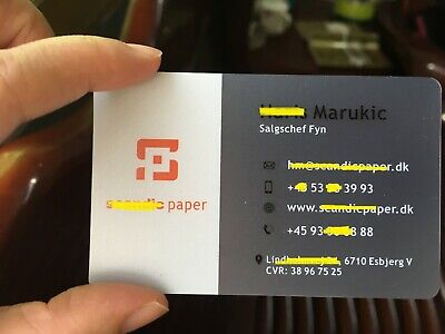 1000 Full Color Custom Printed Frosted Clear Plastic Business Card + White OIL