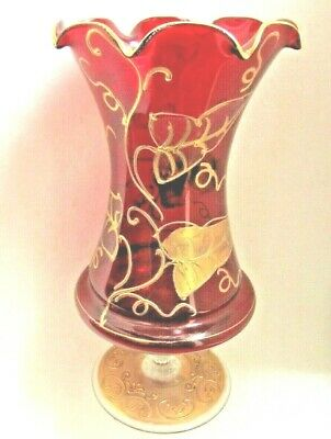 Vase Murano Italy Glass Handcrafted Vintage