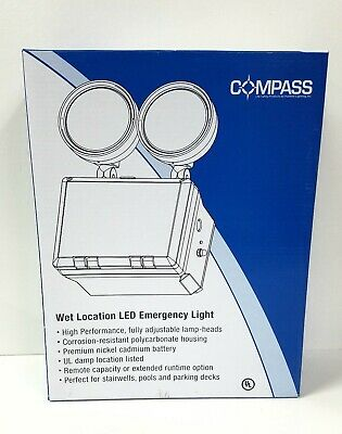 HUBBELL LIGHTING COMPASS 2 LED Lamps, Emergency Light ~ CU2WG ~ New In Box