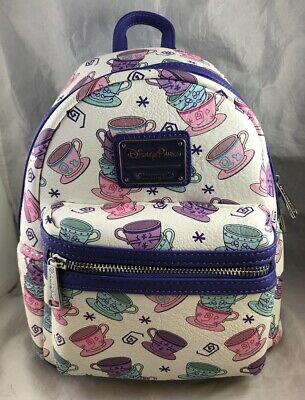 9dc5903dfbf Disney Parks Loungefly Teacups Mad Tea Party Alice in Wonderland Mini  Backpack