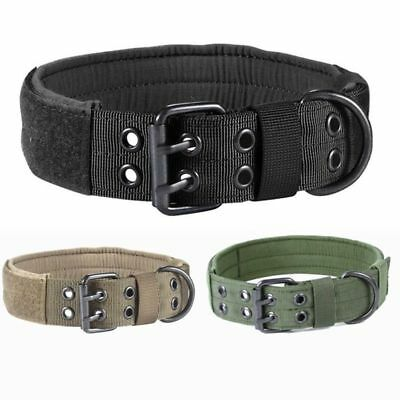 Adjustable Nylon Dog Canine Military Tactical Working Training Collar Necklace A