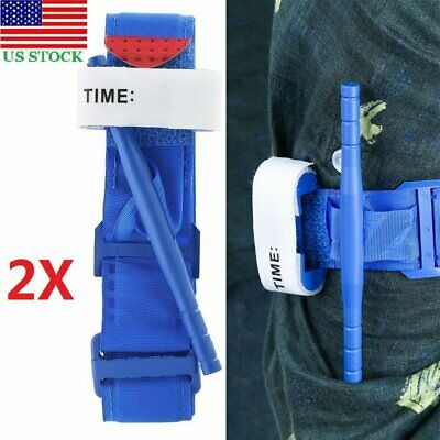 2PCS Tourniquet - Rapid One Hand Application Emergency Outdoor First Aid Kit US