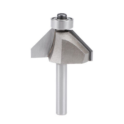 sourcing map Chamfer Router Bit with 1//4 Inch Shank 1//2 Inch Cutting Depth 45 Degree Cutting Angle for Woodworking