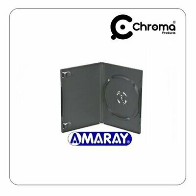 Amaray - Pack de 50 estuches para DVD (lomo de 14 mm), color negro