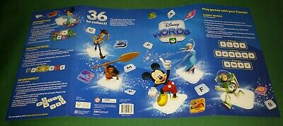 DISNEY WORDS ALBUM CASE Woolworths EMPTY ALBUM NO TILES folder only