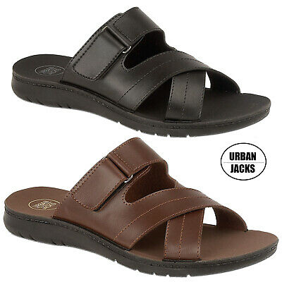 Mens Faux Leather Lightweight Summer Sandals Hiking Shoes Size 6 7 8 9 10 11 12