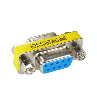 1PC RS232 9 Pin Female to Female Gender Changer Converter PC Extension Adapter