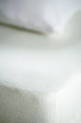 Belledorm 100% Cotton Jersey Memory Foam Fitted Sheet All Sizes and Depths White