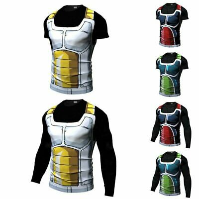 US Dragon Ball Z Compression Workout T-shirt Cosplay Fitness Cycling Jersey Tops