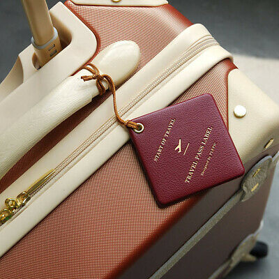 Travel Pass Name ID Tag for Suitcase Luggage Baggage Bag Strap Label Holder