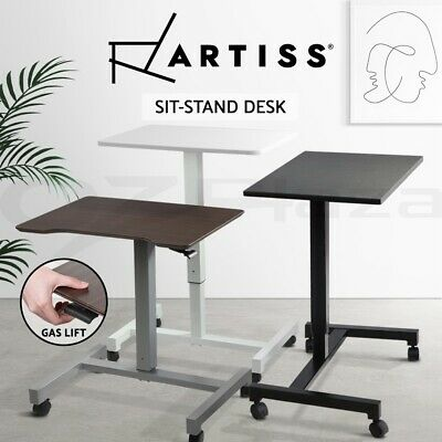 Artiss Sit Stand Standing Desk Gas Lift Computer Laptop Table Portable Mobile