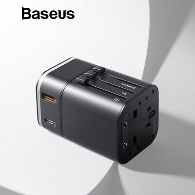 Baseus 18W Travel Charger EU UK US Support Quick Charge 3.0 for Samsung, iPhone