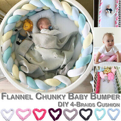Baby Cot Bedding Bumper Infant Crib Woven Thick Plush Protection Pad Pillow 1-3M