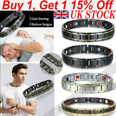 Therapeutic Energy Healing Bracelet Metal Magnet Therapy Health Care Wrist Band