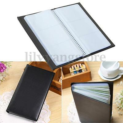 300 Cards Leather Business Name ID Credit Card Holder Book Case Keeper