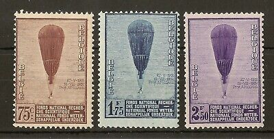 Belgium 1932 Research Balloon SG621-623 MNH