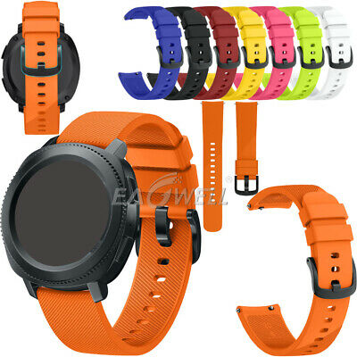 Universal 20mm Sport Silicone Watch Band Replacement Strap Quick Release Install