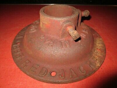 Antique Red Jacket Windmill Hand Pump Base RNOS Cast Iron Water Well Tubular Vtg