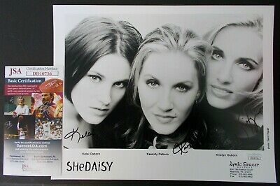 SheDaisy all 3 Group Band signed autographed 8x10 PHOTO JSA country music promo