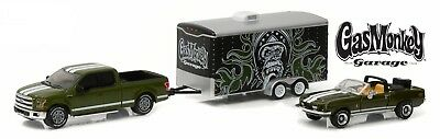 Gas Monkey Garage SET 1968 Shelby + Ford  + Trailer *RR* Greenlight 1:64 OVP