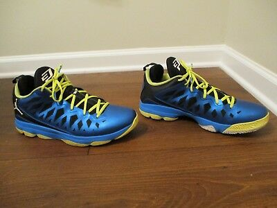 new arrival fd554 cea5a Used Worn Size 13 Nike Air Jordan CP3.V1 Shoes Blue Black Yellow