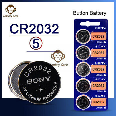 Sony CR2032 CR 2032 3V Button Coin Cell Battery x 5pcs Brand new Genuine EXP202