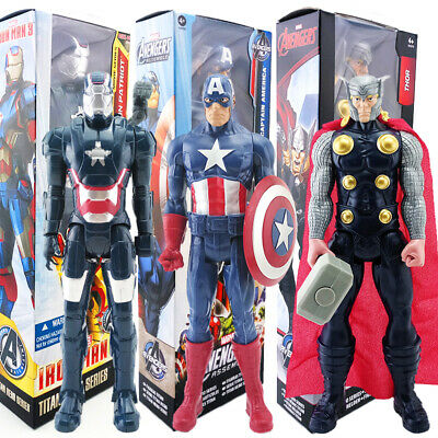 "30cm Marvel Avengers 12"" Superhero Action Figure Spiderman Thor Wolverine Model"