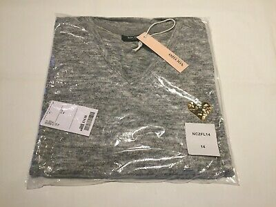 CLEARANCE Ladies Nocozo super soft sequin Heart logo sweater. Grey 14 x 15. R2.
