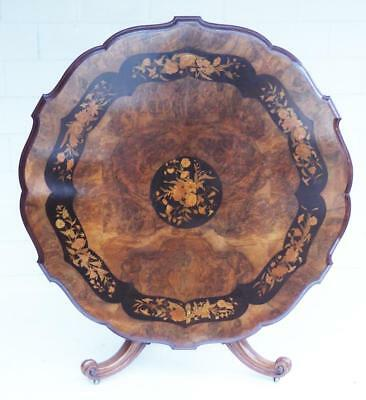 Victorian Walnut and Marquetry Dining Table