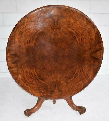 Victorian Burr Walnut Circular Dining Table