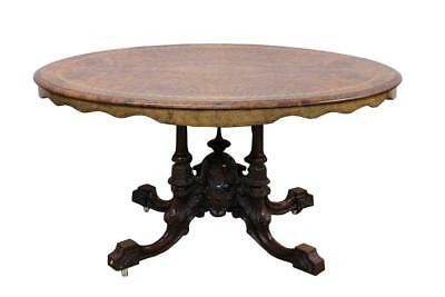 Victorian Burr Walnut Inlaid Table