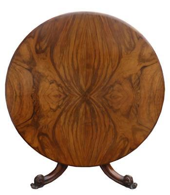 Victorian Figured Walnut Circular Dining Table