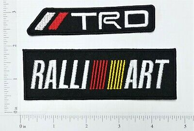 TRD MISUBISHI logo Embroidered Iron on Patch car motocycle racing clothes