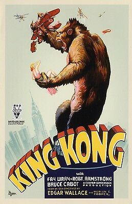King Kong movie poster(style C)  : Fay Wray : 11 x 17 inches - King Kong poster