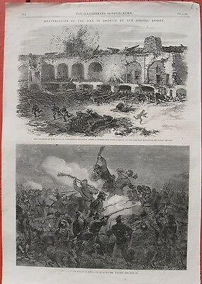 1863 Antique Engravings - Fort Sumter - Fort Wagner - Opening of the Mississippi