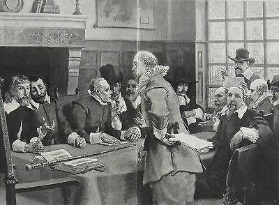 "1886 Large Antique Engraving- Councillors of ""Peter The Headstrong"" (New York)"