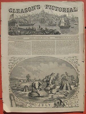 1854 Antique Engravings- Brookline, Mass.- Sing Sing NY - Philadelphia - Algeria