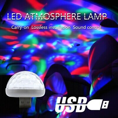 USB Disco Light Strobe LED Dj Ball Sound Activated Dance Bulb Lamp Stage Decor