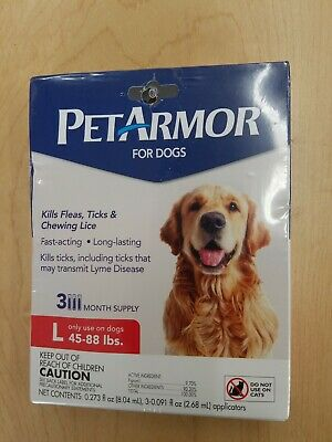 PetArmor  Flea and Tick Treatment for Large  Dogs 45-88 Pounds,  Sealed.