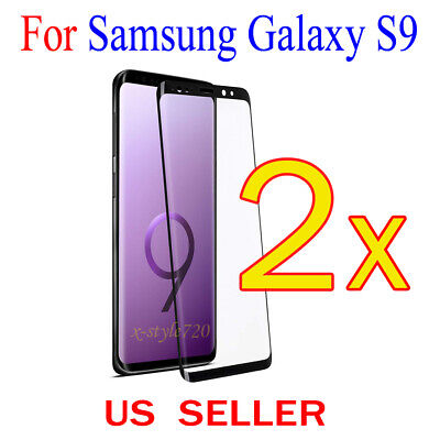 2x Full Cover Curved Clear Screen Protector Guard Film For Samsung Galaxy S9
