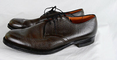 c1cb95272f9 Vintage 40s Wright Arch Preserver Shoes Moccasin Cut Textured Cow Leather