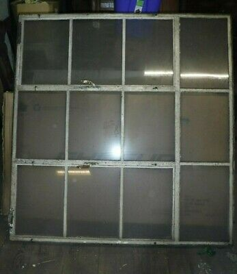 Huge Old Architectural Salvage Steel Window Residential Industrial Factory 12 Lt